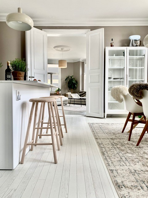 Design gulv med Italiensk eleganse, Bianco star, Garbelotto, linea I Gessi, stavparkett, Kahlbom & Co lyse gulv, malte gulv